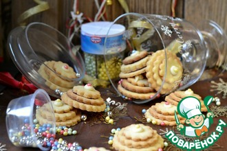 Новогоднее печенье с белым шоколадом