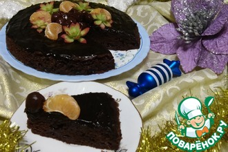 """Шоколадный кекс с вишней """"Восхитительный"""""""