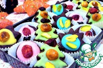 Конфеты шоколадно-марципановые в сахарной глазури