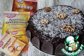 """Шоколадно-кокосовый торт """"Саша"""""""