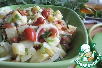 Салат из маринованных опят и картофеля
