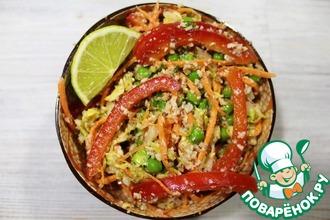 Тайский салат из сырых овощей