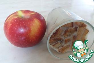 Желе молочное с яблоком