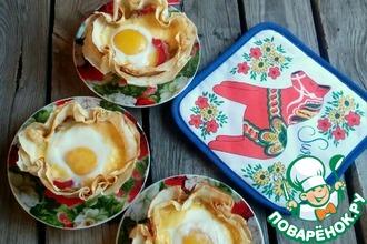 Закусочные блины с яйцом