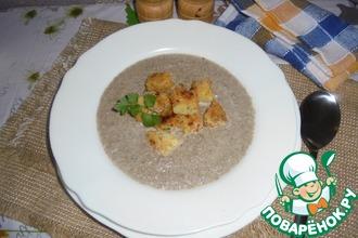 Грибной суп с манными кнелями