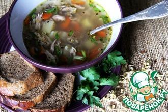 Куриный суп с проросшей гречкой