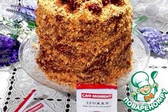 """Блинный торт с маскарпоне """"Обсыпной"""""""