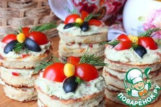 Закусочные фасолевые пирожные из оладий