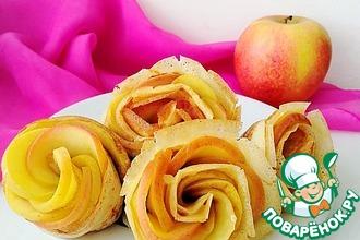 """Блины с яблоками """"Розы"""""""