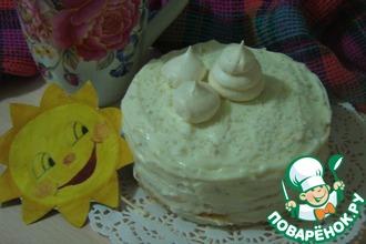 """Блинный мини-торт """"Цитрусовая нежность"""""""