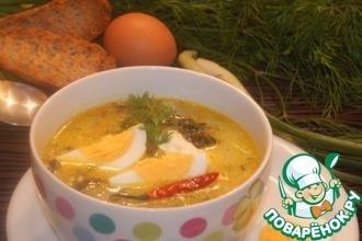 Шпинатный суп с лимонным соусом