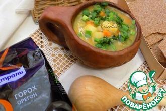 Постный гороховый суп по-деревенски
