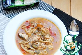 Суп-гуляш с морепродуктами