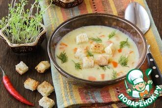 Суп с плавленым сырком и карри