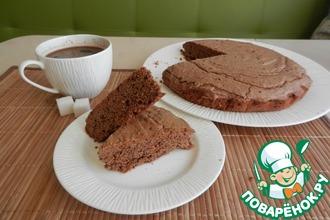 Шоколадный песочно-дрожжевой пирог-пряник