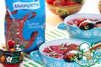 Свекольный суп с гречкой