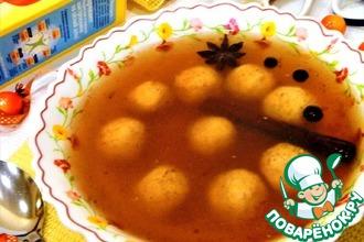 Десертный суп с творожными клецками