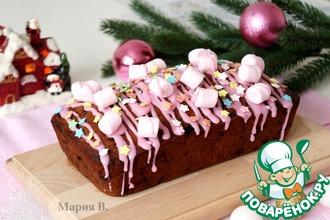 Рождественский кекс с клюквой и вишней