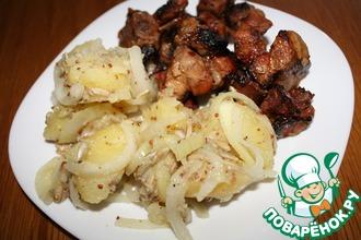 Теплый салат из картофеля с семечками