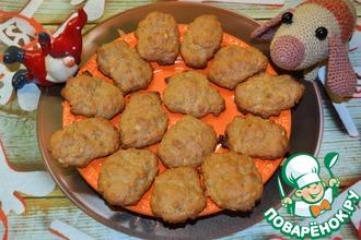 Цельнозерновое печенье с овсяными хлопьями