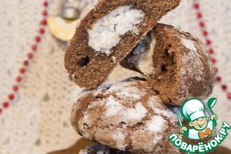 Шоколадное печенье с кокосово-рикоттовой начинкой