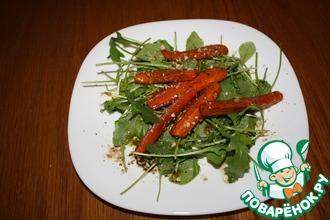 Салат с рукколой и запеченной морковью