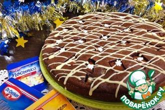 Шоколадно-грушевый пирог с коньяком