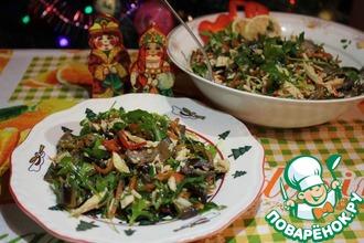 Салат из индейки и баклажанов