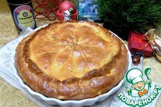 Пирог с картофелем и лососем