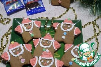 """Пряное шоколадное печенье """"Деды Морозы"""""""