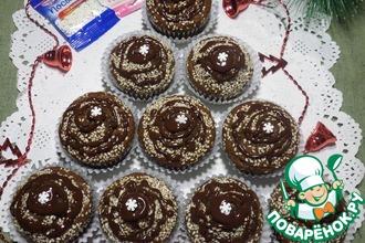 Шоколадные кексы с кунжутом