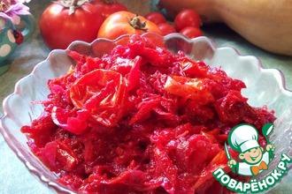 Тушеные овощи с помидорами черри