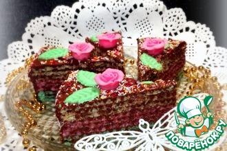 Торт вафельный с нутеллой