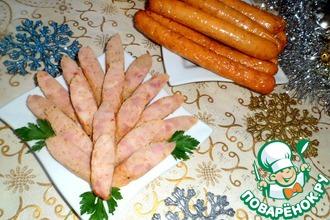 Куриные сосиски в соевом соусе