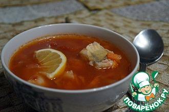 Суп томатный с судаком