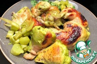 Курица, запеченная с базиликом