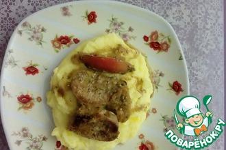 Свиная вырезка в сметанно-горчичном соусе
