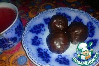 Ореховые конфеты с изюмом в шоколаде
