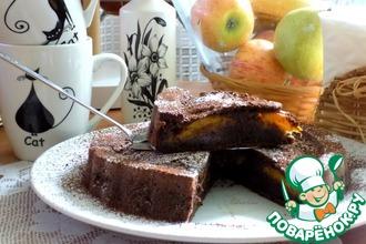 Шоколадно-кофейный кекс с абрикосом