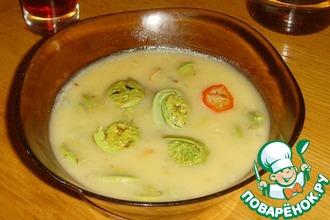 Суп-пюре с папоротником