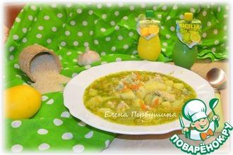 Суп с зеленым смузи