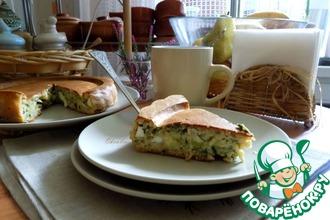 Геркулесовый пирог с брокколи