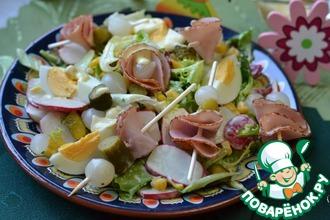 Салат с вареным яйцом