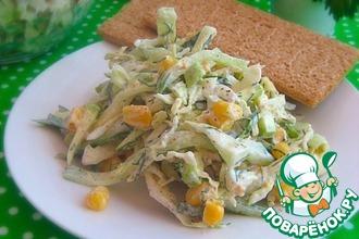 Овощной салат с кабачком и кукурузой