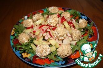 Салат с сырными шариками
