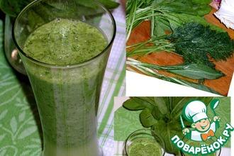Зеленый смузи без йогурта