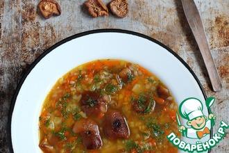 Гречневый суп с сушеными грибами