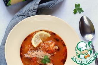 Мароканский суп с кускусом и курицей