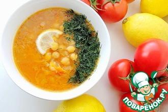 Суп с нутом и томатами