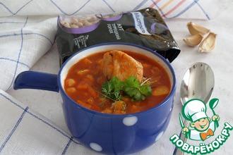 Томатный суп с кроликом и нутом